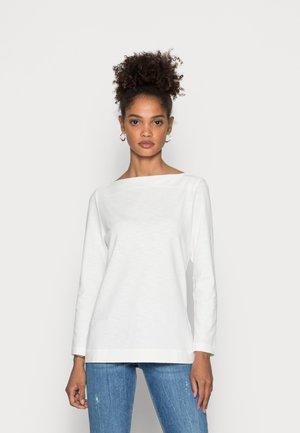 Langærmede T-shirts - off white