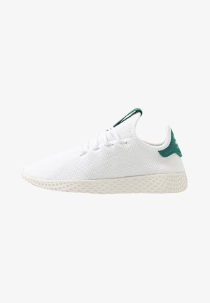 PW TENNIS HU - Matalavartiset tennarit - footwear white/offwhite/collegiate green