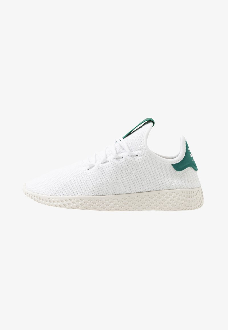 adidas Originals - PW TENNIS HU - Sneakers basse - footwear white/offwhite/collegiate green