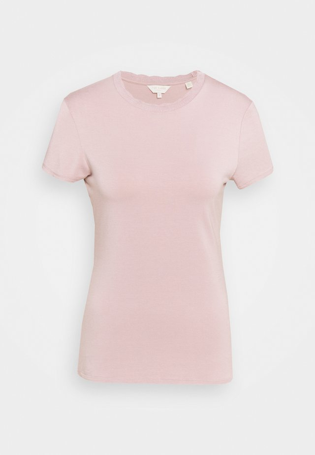 LECCA - Jednoduché triko - dusky pink