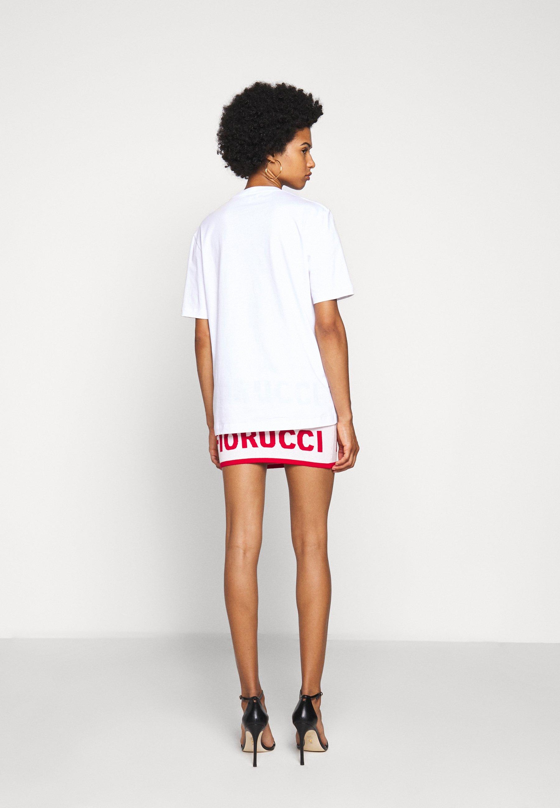 Fiorucci Embroidered Logo Tee - T-shirts Med Print White/hvit