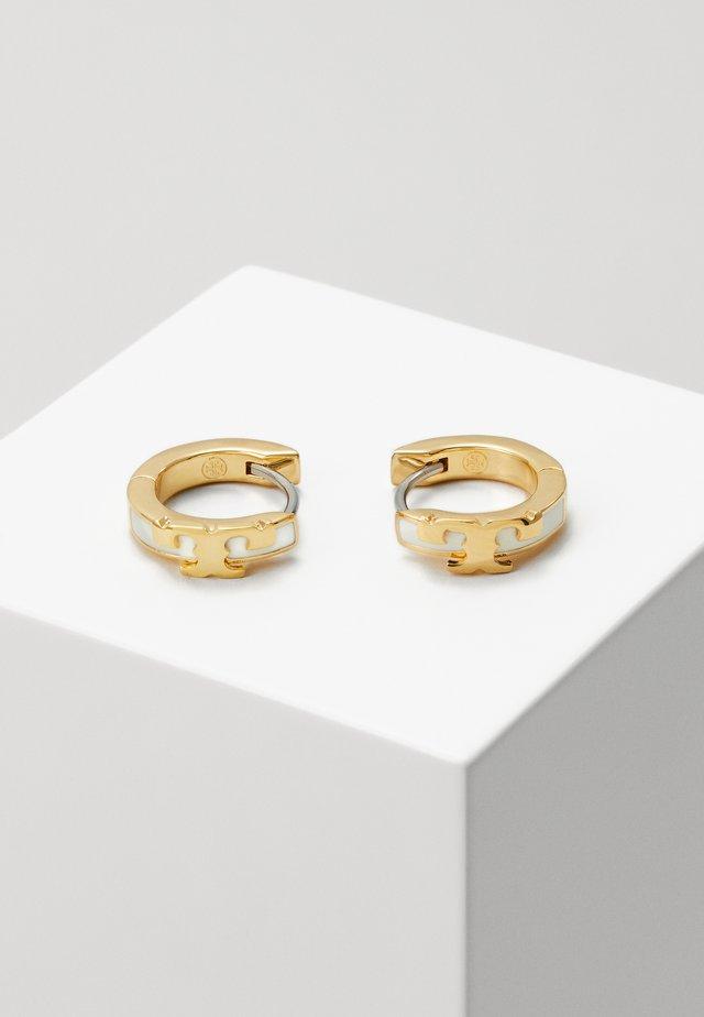 KIRA STACKABLE HUGGIE HOOP EARRING - Ohrringe - gold-coloured/new ivory
