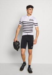 ODLO - STAND UP COLLAR FULL ZIP  - T-shirt imprimé - white/black - 1