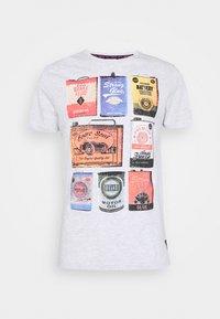Brave Soul - T-shirt print - ecru marl - 4