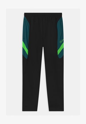 DRY ACADEMY - Tracksuit bottoms - black/dark teal green/green strike