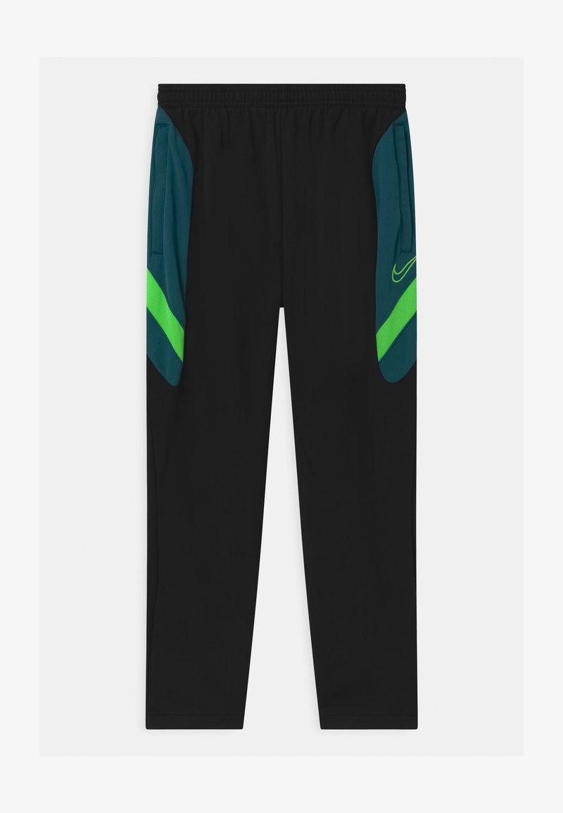 Nike Performance - DRY ACADEMY - Tracksuit bottoms - black/dark teal green/green strike