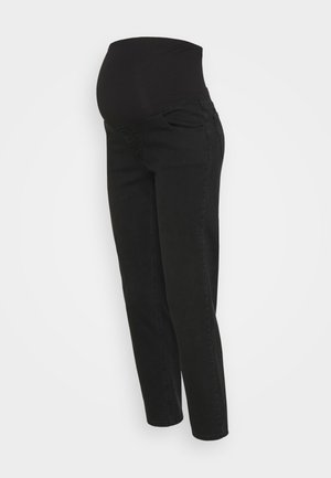 MATERNITY STRETCH - Jeans Straight Leg - stonewash black