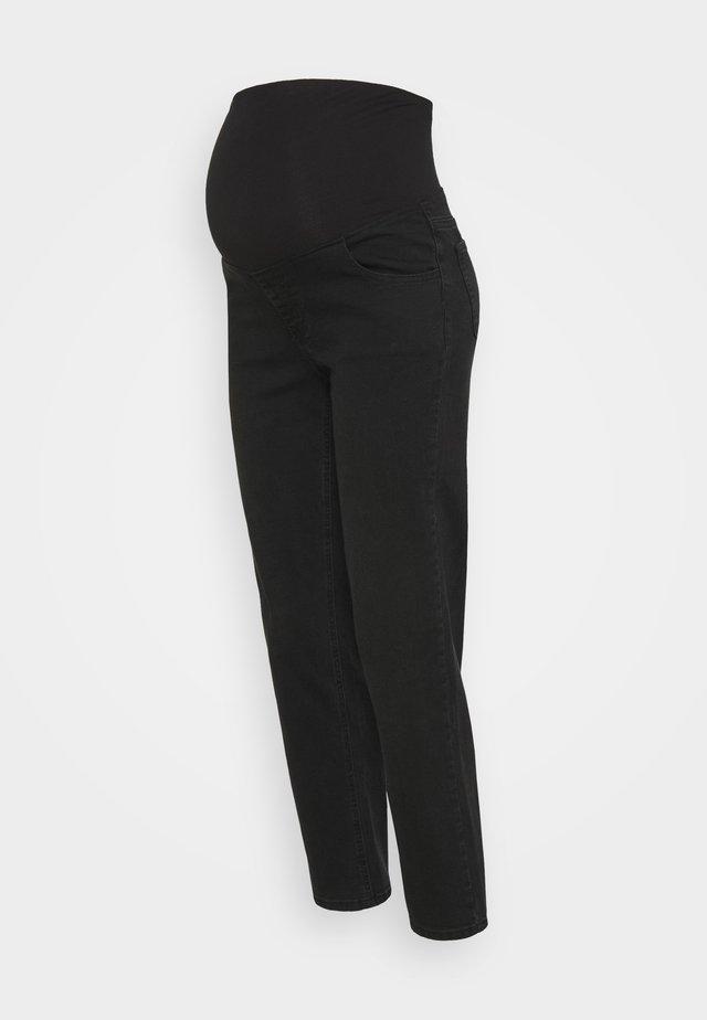 MATERNITY STRETCH - Jeans straight leg - stonewash black
