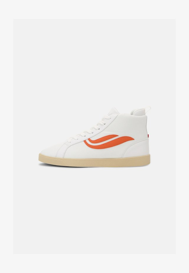 G-HELÁ MID UNISEX - Sneakers alte - white/orange