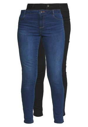 ELLIS SLIM 2 PACK - Slim fit jeans - black/indigo