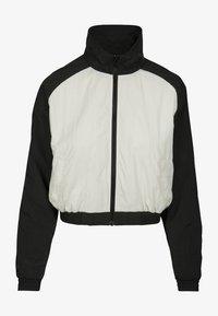 Urban Classics - CRINKLE BATWING  - Training jacket - black/white - 0