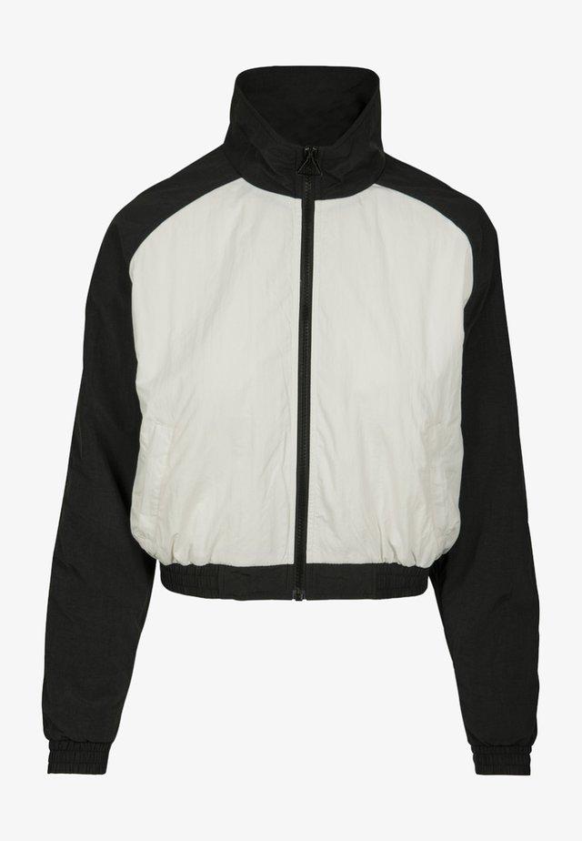 CRINKLE BATWING  - Training jacket - black/white