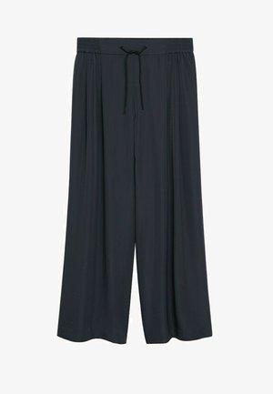 NOP - Trousers - dunkelgrau meliert