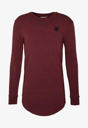 GYM TEE - Long sleeved top - burgundy