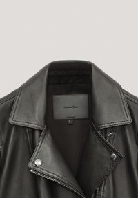 Massimo Dutti - Veste en cuir - black - 4