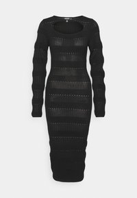 Missguided Tall - CUT OUT NECK MIDI DRESS - Sukienka dzianinowa - black - 0