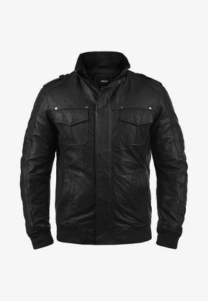 CAMASH - Leather jacket - black