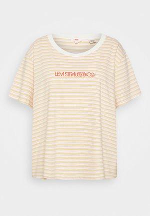 VARSITY TEE - T-shirts med print - pearl tofu