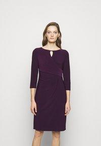 Lauren Ralph Lauren - MID WEIGHT DRESS TRIM - Shift dress - raisin - 0