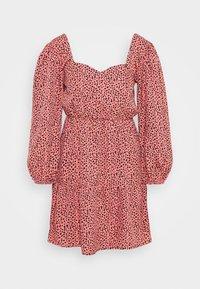 New Look Petite - SWEETHEART NECK TIER MINI - Day dress - pink - 0