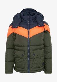 OUTERWEAR - Winter jacket - dark blue/olive/orange