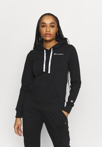 Champion - HOODED - Sweatshirt - black - 0