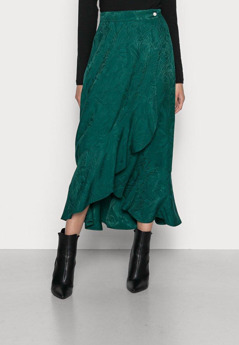 NAF NAF - LAPOUSSIERE - Jupe longue - lapoussiere vert