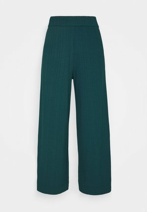 CILLA TROUSERS - Kangashousut - dark green