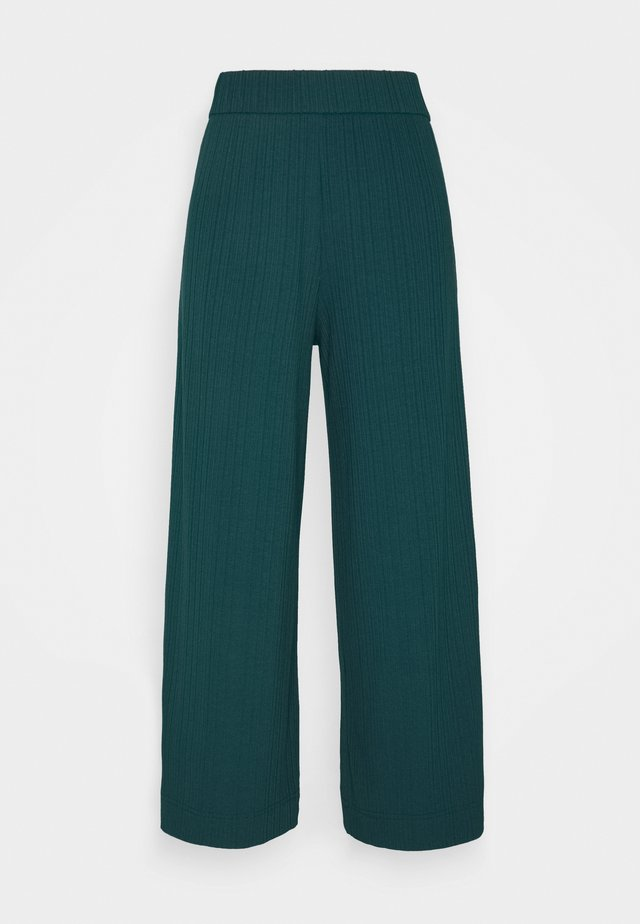 CILLA TROUSERS - Tracksuit bottoms - dark green