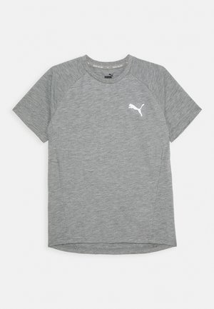 EVOSTRIPE TEE - Basic T-shirt - medium gray heather
