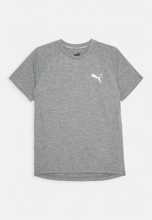EVOSTRIPE TEE - Jednoduché triko - medium gray heather