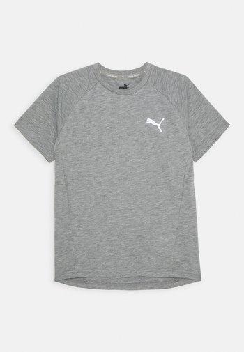 EVOSTRIPE TEE - Basic T-shirt - medium gray heather