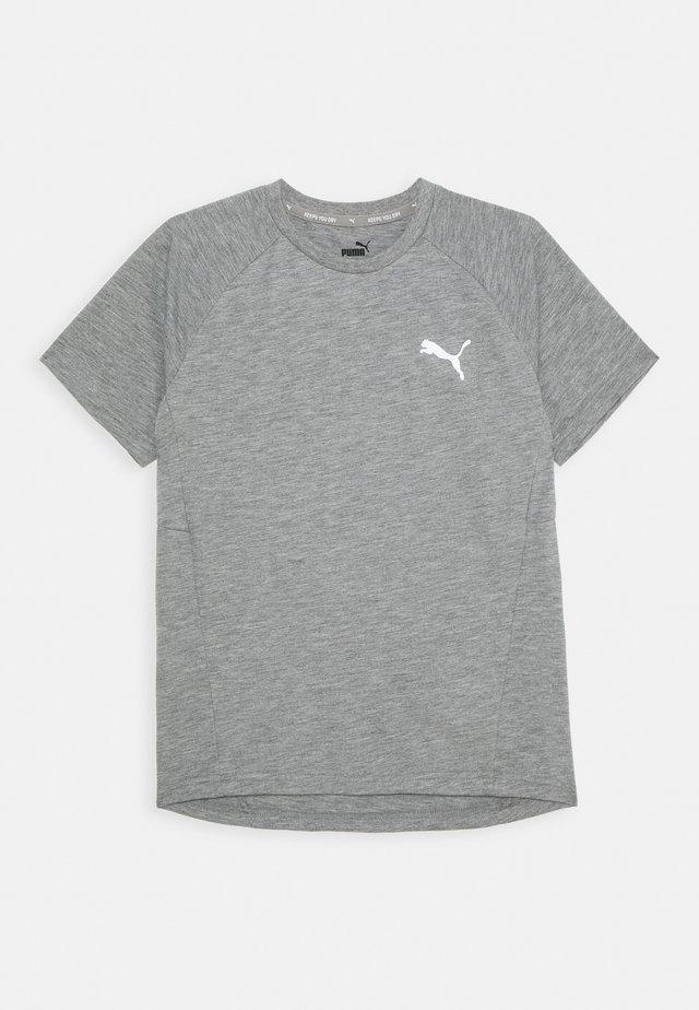 EVOSTRIPE TEE - T-shirt basic - medium gray heather
