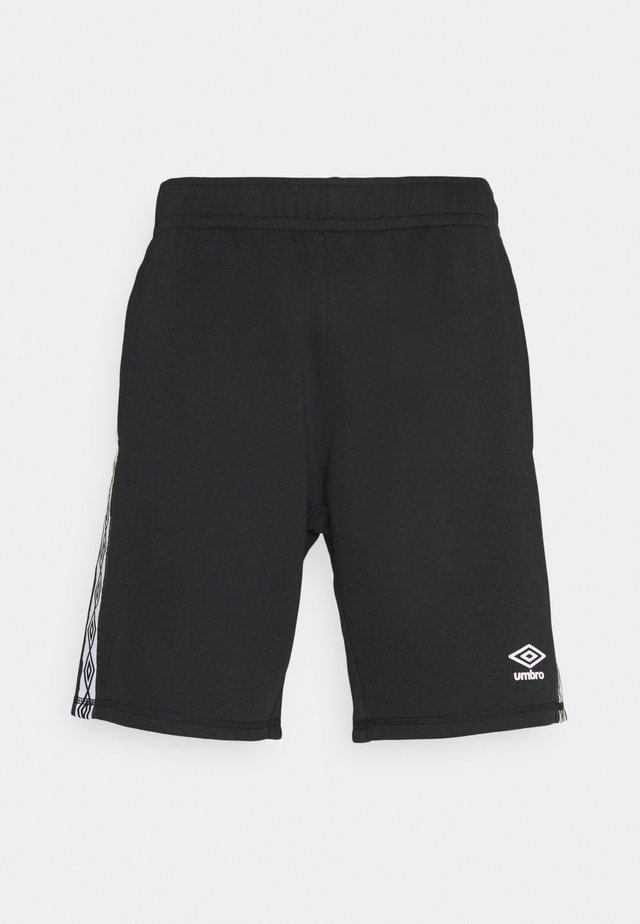 TAPED SHORT LOOPBACK - Pantaloncini sportivi - black