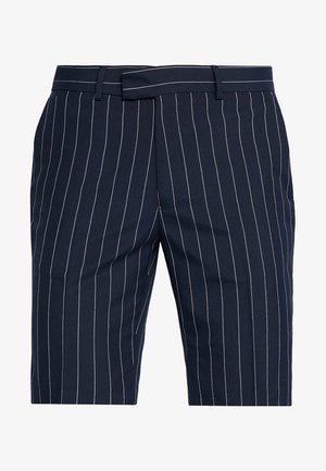 SMART PIN STRIPE - Shorts - navy