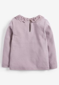Next - BRUSHED BRODERIE COLLAR  - Long sleeved top - purple - 1
