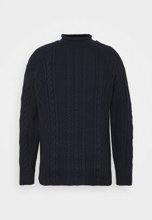 CABLE ROLLNECK - Maglione - navy