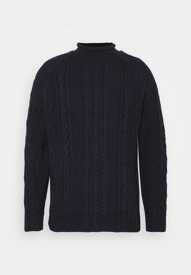 CABLE ROLLNECK - Jumper - navy