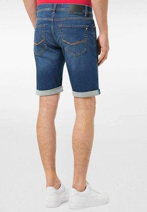Denim shorts - darkblue