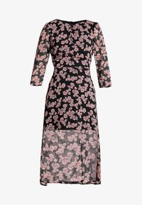 Missguided - FLORAL RUCHED DETAIL MIDAXI DRESS - Day dress - black - 3