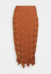 Hervé Léger - Pencil skirt - ginger - 0