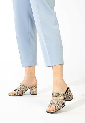 Sandals - beige melange