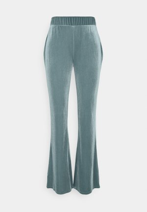 VIVELVETTA FLARED PANT - Tracksuit bottoms - goblin blue