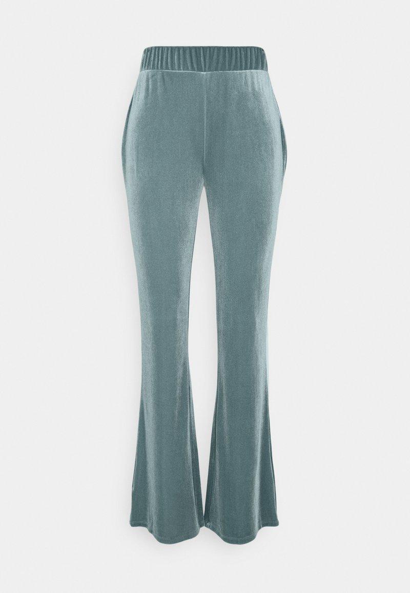 Vila - VIVELVETTA FLARED PANT - Tracksuit bottoms - goblin blue
