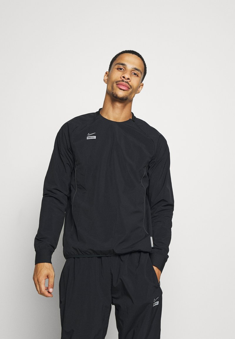Nike Performance - MIDLAYER CREW - Sports jacket - black/silver