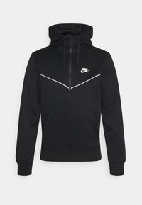 Nike Sportswear - REPEAT HOODIE - Long sleeved top - black/white - 0