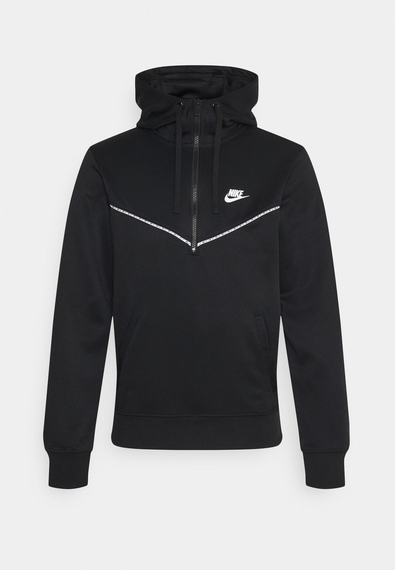 Nike Sportswear - REPEAT HOODIE - Long sleeved top - black/white