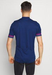 ODLO - STAND UP COLLAR ZIP ESSENTIAL - T-Shirt print - estate blue - 2
