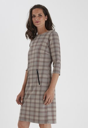 Jersey dress - barn red mix