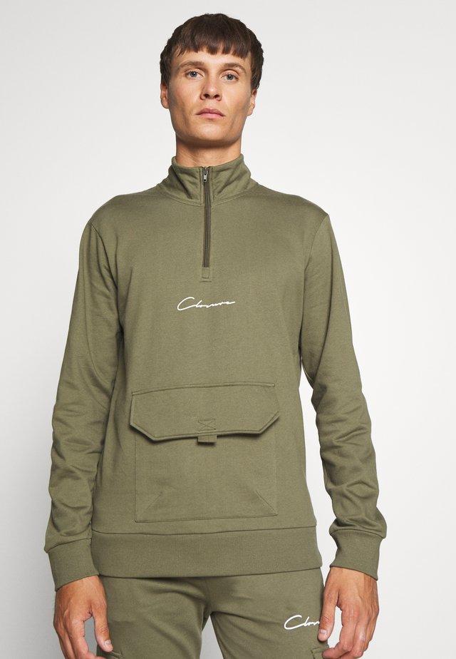 UTILITY TRACKTOP - Sweatshirt - khaki